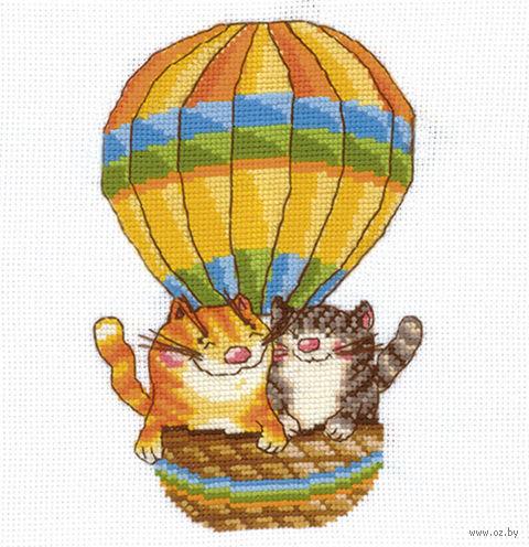 """Вышивка крестом """"На воздушном шаре"""""""