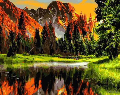 "Картина по номерам ""Горный пейзаж"" (400х500 мм; арт. PC4050196) — фото, картинка"