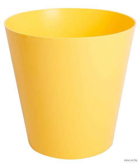 """Цветочный горшок """"Сэмпл"""" (19 см; желтый) — фото, картинка"""