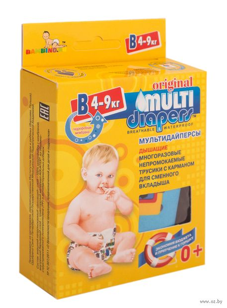 "Подгузники-трусики ""Multi Diapers Original"" (4-9 кг) — фото, картинка"