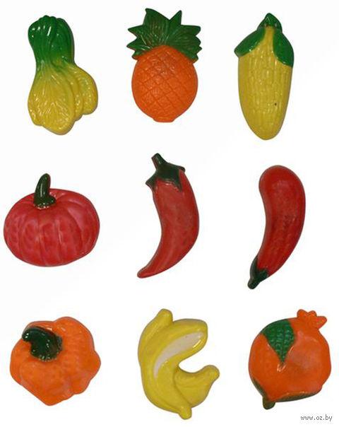 """Набор фигурок пластмассовых """"Овощи"""" на магнитах (9 шт, 7,5x3 см) в ассортименте"""