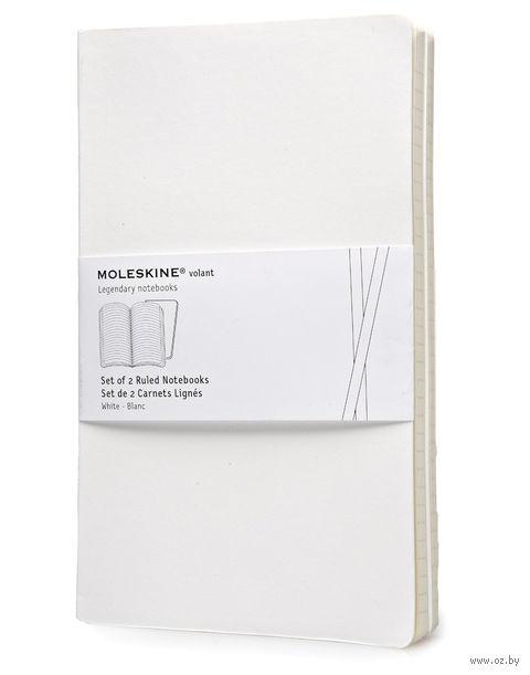 """Записная книжка Молескин """"Volant"""" в линейку (большая; мягкая белая обложка; 2 штуки)"""