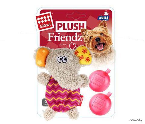 """Игрушка для собак """"Слон"""" с двумя сменными пищалками (13 см)"""
