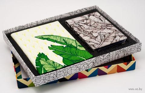 """Подарочный набор """"Листья"""" (обложка на паспорт и кредитница) — фото, картинка"""