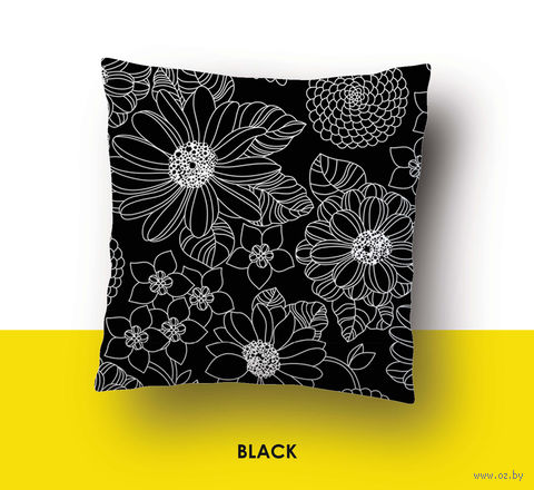 "Наволочка хлопковая ""Black"" (70x70 см) — фото, картинка"