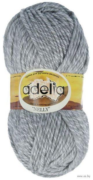 "Пряжа ""Adelia. Nelly №16"" (100 г; 100 м; светло-серый) — фото, картинка"