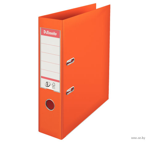 Папка-регистратор А4 с арочным механизмом, 75 мм (ПВХ, оранжевая)