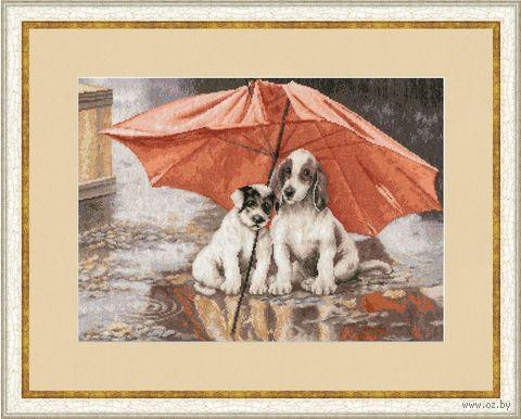 "Вышивка крестом ""Под дождем"" (374х274 мм) — фото, картинка"