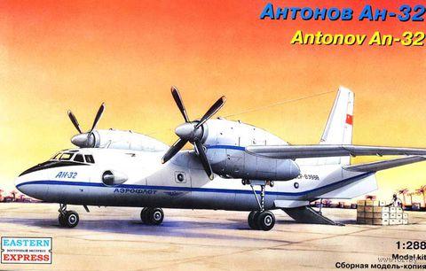 "Транспортный самолет Ан-32 ""Аэрофлот"" (масштаб: 1/288)"