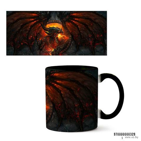 """Кружка """"World of Warcraft Смертокрыл"""" (арт. 329, черная)"""