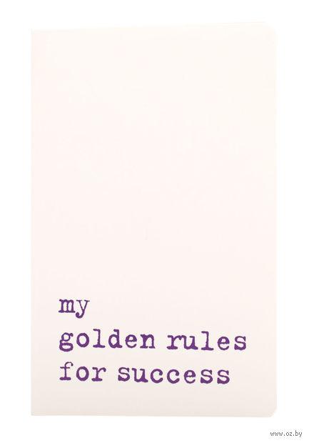 """Записная книжка Молескин """"Volant. My Golden Rules for Success"""" в линейку (карманная; мягкая белая обложка)"""