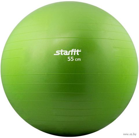 Мяч гимнастический GB-101 55 см (зелёный) — фото, картинка
