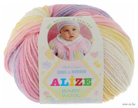 """Пряжа """"ALIZE. Baby Wool Batik Design №4006"""" (50 г; 175 м; секционный) — фото, картинка"""