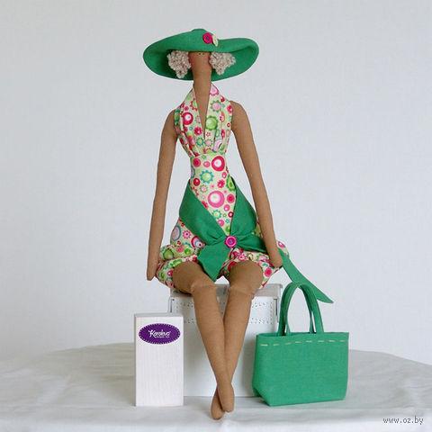 """Кукла ручной работы """"Девушка"""" (в шляпе на шоппинге)"""