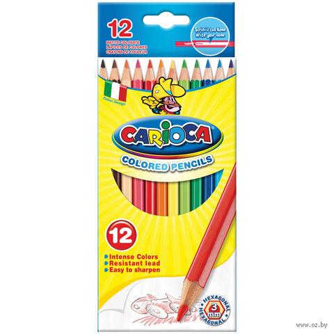 """Цветные карандаши """"Carioca"""" (12 цветов)"""