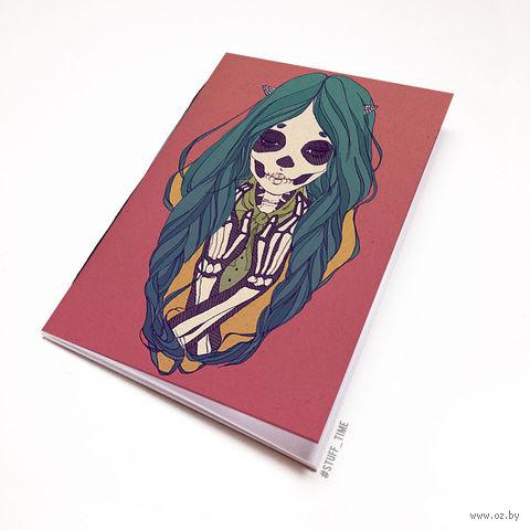 """Блокнот """"Девушка-скелет"""" (А5; арт. 749) — фото, картинка"""