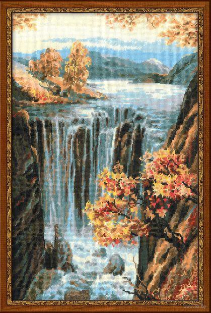 "Вышивка крестом ""Водопад"" (400х580 мм) — фото, картинка"