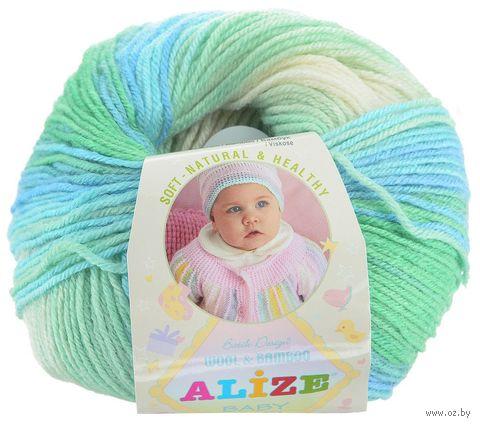 """Пряжа """"ALIZE. Baby Wool Batik Design №4389"""" (50 г; 175 м; секционный) — фото, картинка"""