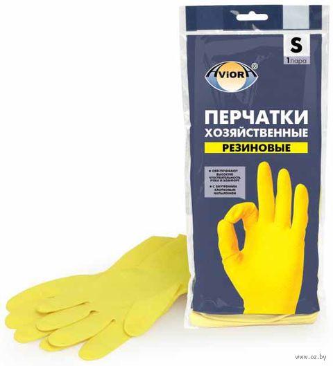 Перчатки хозяйственные резиновые (S; 1 пара) — фото, картинка