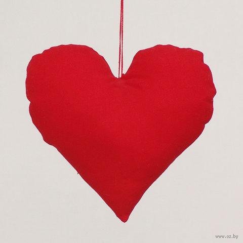 """Украшение ручной работы """"Сердце"""" (красное)"""