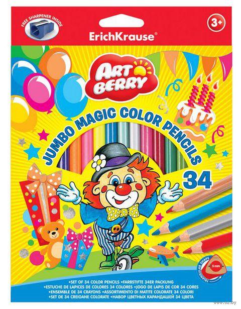 "Цветные карандаши ""Artberry. Jumbo"" (34 цвета; с точилкой)"