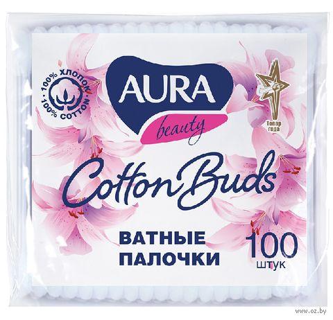 "Ватные палочки ""Aura"" (пакет; 100 шт.)"