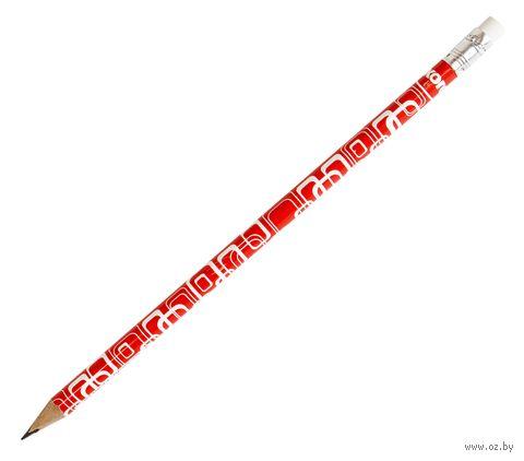 """Карандаш чернографитный с ластиком """"Grafitos Red and White"""" (HB; в ассортименте) — фото, картинка"""