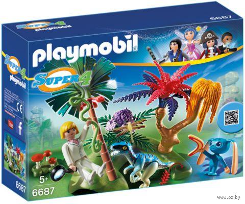 """Игровой набор """"Затерянный остров с пришельцем и Раптором"""" — фото, картинка"""