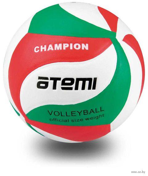 """Мяч волейбольный Atemi """"Champion"""" №5 (зелёно-бело-красный) — фото, картинка"""