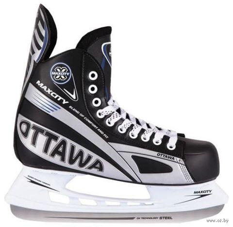 """Коньки хоккейные """"Ottawa+"""" (р. 47) — фото, картинка"""