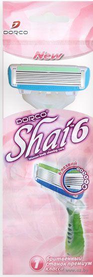 """Станок для бритья одноразовый """"Shai Vanilla 6"""" (1 шт.) — фото, картинка"""