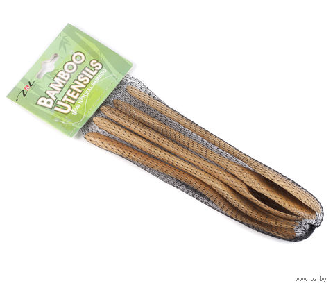 Набор кухонных инструментов бамбуковых (5 предметов) — фото, картинка