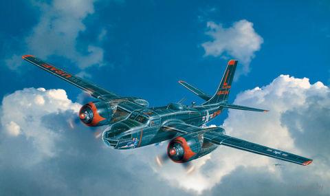 """Бомбардировщик """"A-26C Invader"""" (масштаб: 1/72) — фото, картинка"""