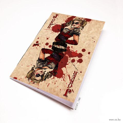"""Блокнот крафт """"Харли Квинн"""" А7 (арт. 763)"""