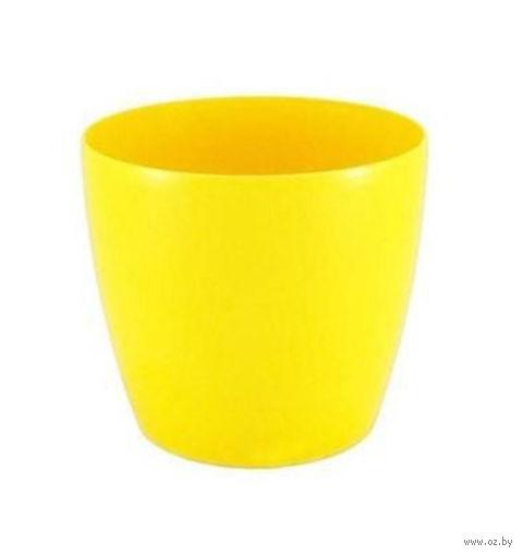 """Кашпо """"Magnolia"""" (13,5 см; желтое) — фото, картинка"""