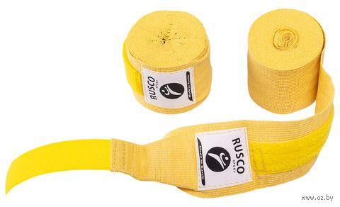 Бинт боксёрский (3,5 м; жёлтый) — фото, картинка