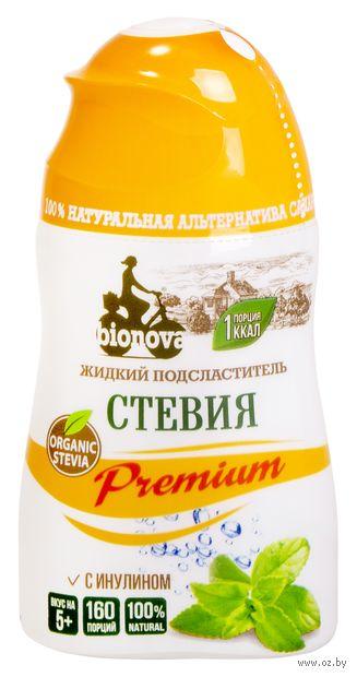 """Заменитель сахара жидкий """"Bionova. Premium. Стевия"""" (80 г) — фото, картинка"""