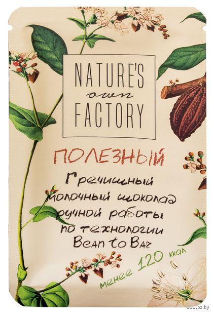 "Шоколад молочный ""Nature's Own Factory. Гречишный"" (20 г) — фото, картинка"