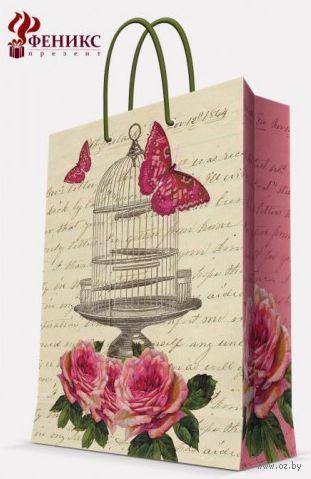 "Пакет бумажный подарочный ""Летний сад"" (17,8х22,9х9,8 см; арт. 35948) — фото, картинка"