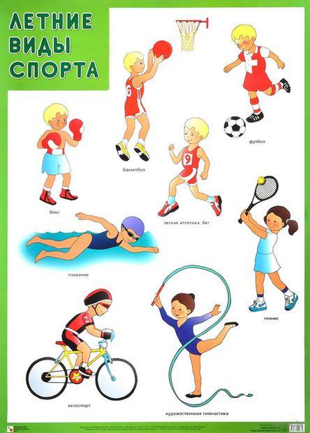 Летние виды спорта. Плакат — фото, картинка