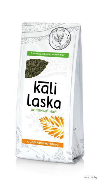 """Чай зеленый листовой """"Kali Laska. С цветками ноготков"""" (100 г) — фото, картинка"""