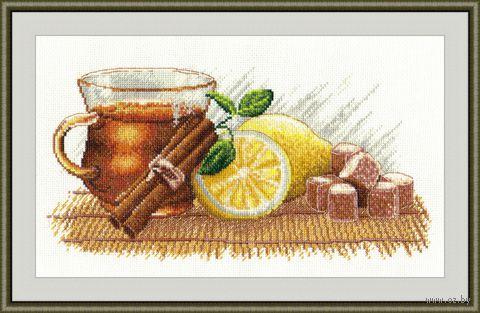 """Вышивка крестом """"Зимний чай"""" (300х360 мм) — фото, картинка"""