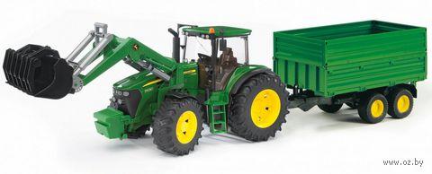 """Модель машины """"Трактор John Deere 7930 с погрузчиком и прицепом"""" (масштаб: 1/16)"""