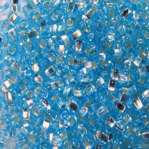 Бисер прозрачный с серебристым центром №67000 (светло-бирюзовый)