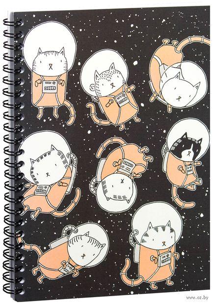 "Блокнот в клетку ""Котики космонавты"" (A5; арт. 1353) — фото, картинка"