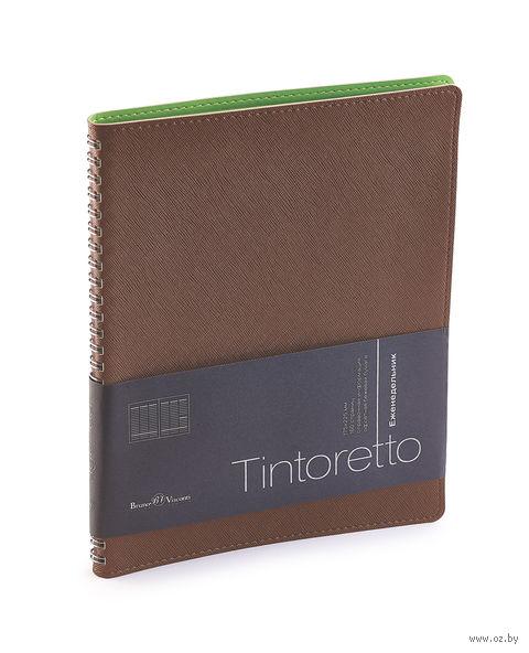 """Еженедельник недатированный """"Tintoretto"""" (B5; коричневый) — фото, картинка"""