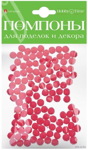 Помпоны пушистые №15 (120 шт.; 8 мм; розовые) — фото, картинка