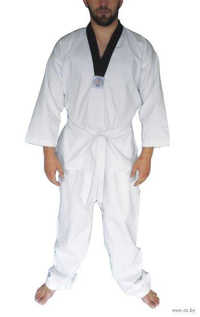 Кимоно для таэквондо ВТФ AX6 (р.36-38/140; белое; с шелкографией) — фото, картинка