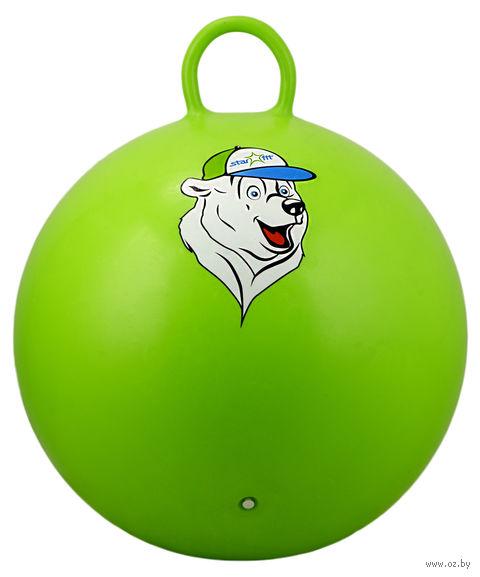 """Фитбол """"Медвежонок"""" 65 см (с ручкой; зелёный) — фото, картинка"""
