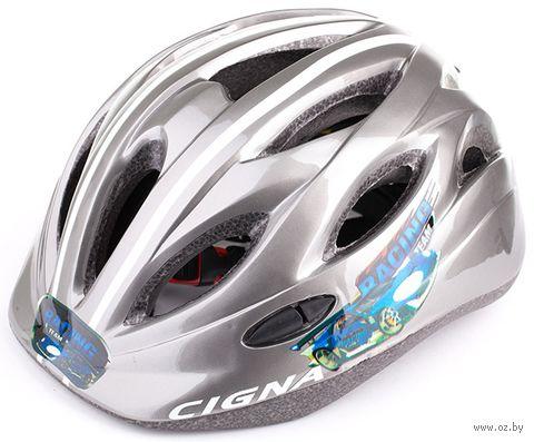 """Шлем велосипедный детский """"WT-021"""" (чёрно-серый) — фото, картинка"""